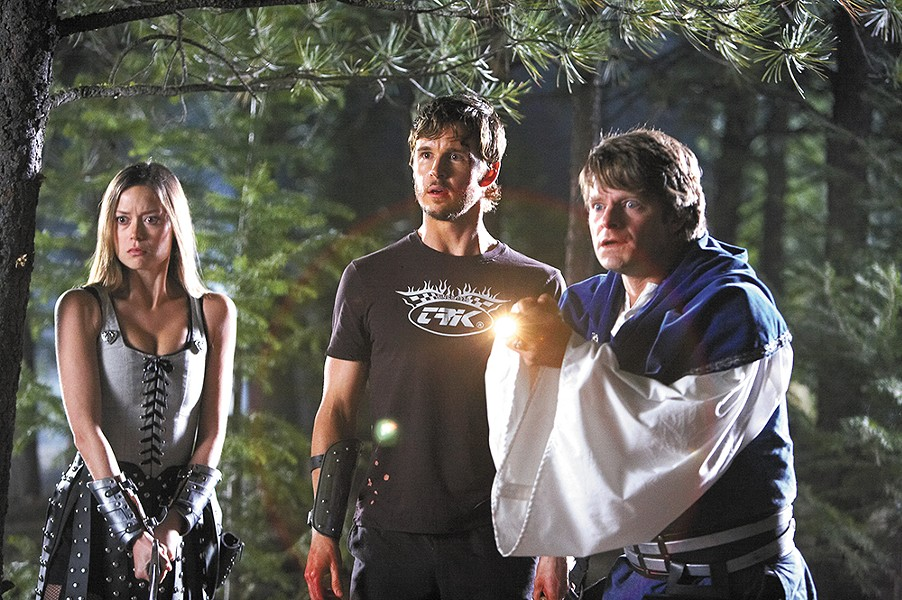 Shot in Spokane, Knights of Badassdom features star actors like (left to right) Summer Glau, Ryan Kwanten and Steve Zahn.
