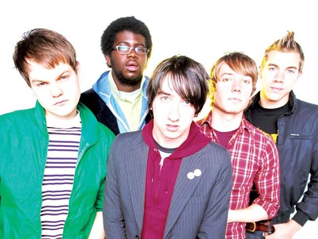 Singer Tom Higgenson (center) and the Plain White T's