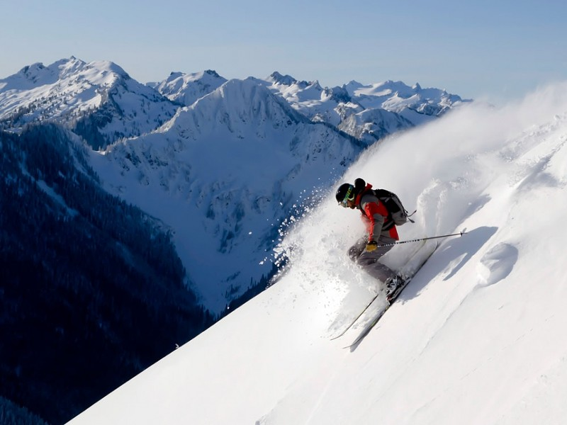 Skier Jim Jack, pictured here, died in an avalanche at Stevens Pass on Sunday. - JOE VASTA, ICICLETV.COM