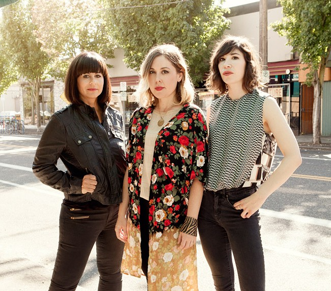 Sleater-Kinney plays their first show in nearly 10 years at the Knitting Factory Sunday. The show sold out in minutes, making it one of fastest-selling events ever for the venue.