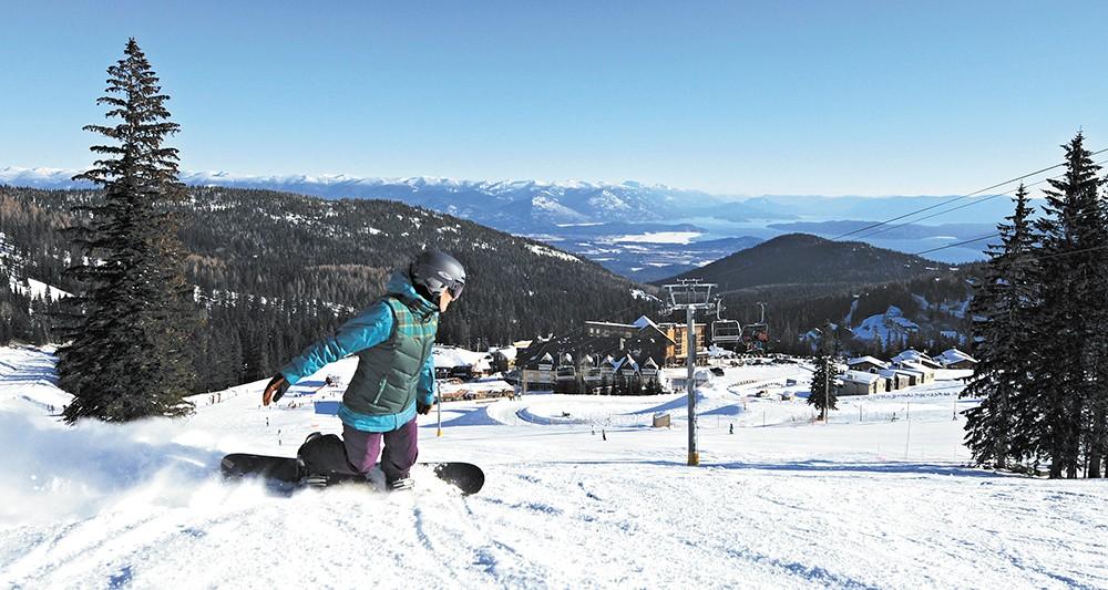 Snowboarding at Schweitzer