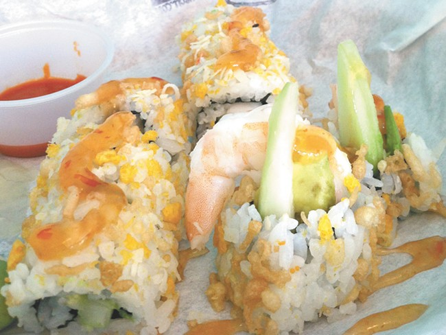 Some casual sushi from Big Tuna. - CARRIE SCOZZARO