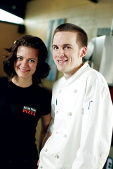 South Perry Pizza owners Krista Kautzmann and Chef Chris Dietz
