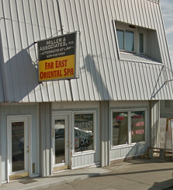 One of Westover's spas when it was in operation, from the street view of Google Maps.