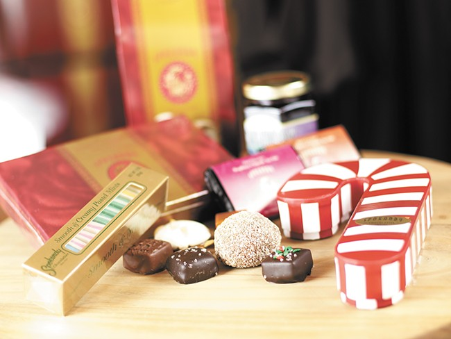 Spokandy's classic treats take on a more festive look for the holidays. - YOUNG KWAK