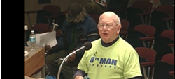 """George McGrath, civic gadfly, said """"Hookerville"""" for the last time in front of City Council on Monday."""
