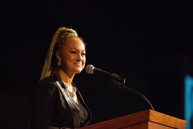 Spokane NAACP President Rachel Dolezal and Inlander commentator - YOUNG KWAK