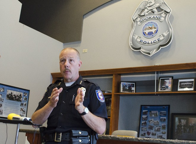Police Chief Frank Straub at SPD downtown substation. - JACOB JONES