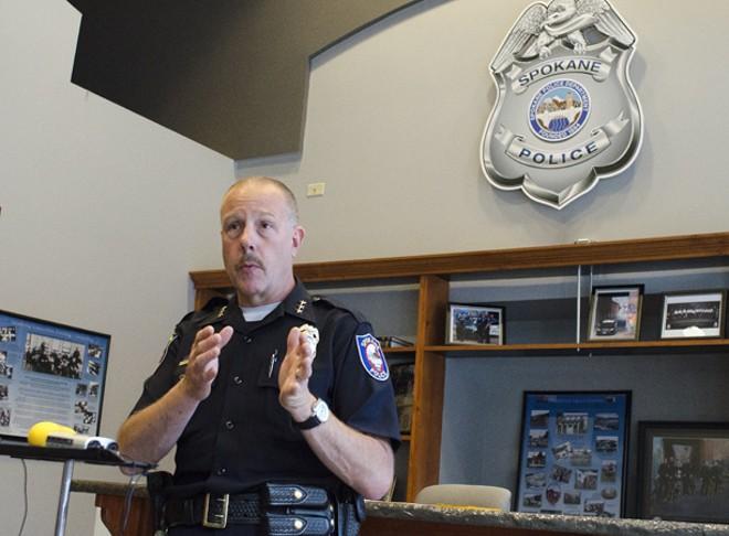 Police Chief Frank Straub at SPD downtown substation. - JACOB JONES