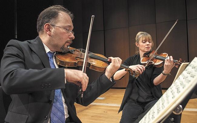 Spokane String Quartet first violinist Mateusz Wolski. - SARAH WURTZ