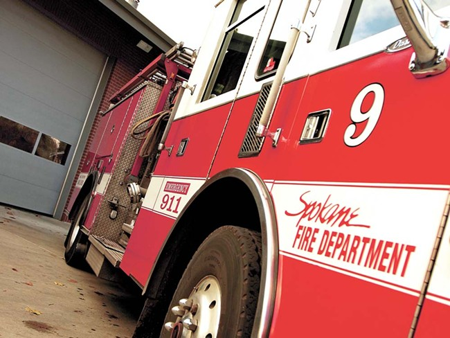 Spokane's Fire Station No. 9 was close to being shuttered before firefighters agreed to forgo pay raises this year. - YOUNG KWAK