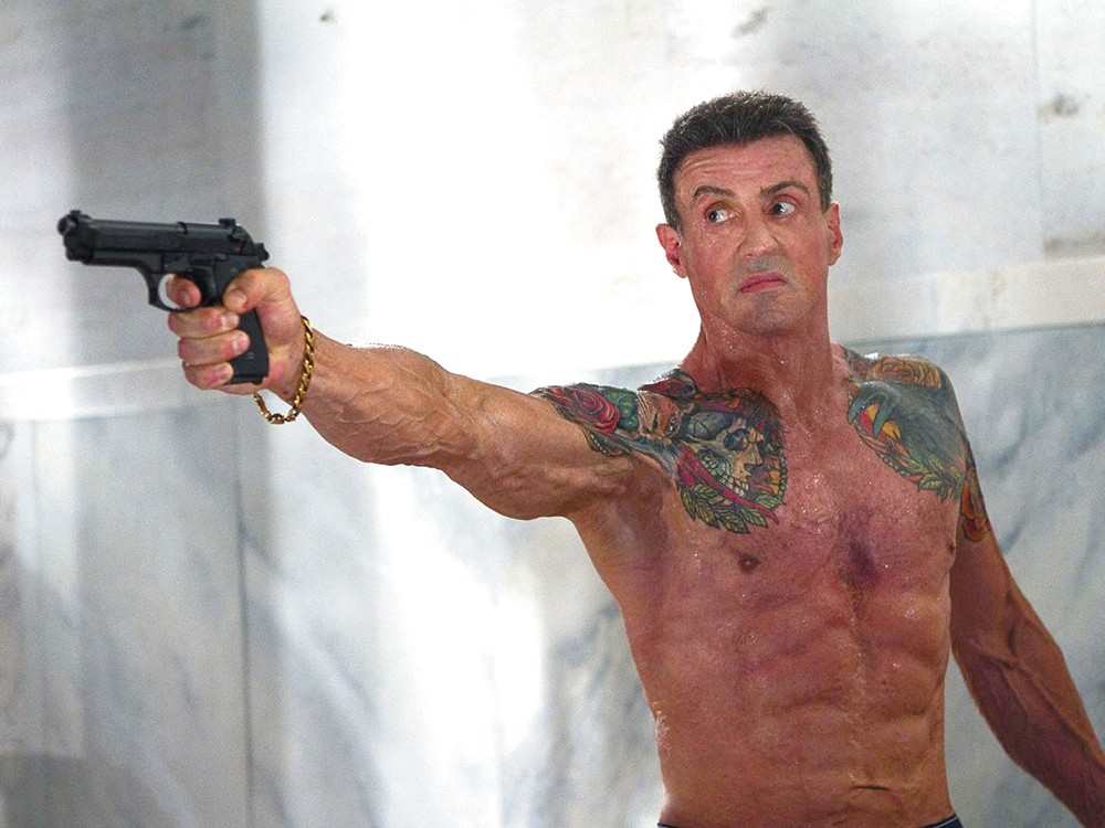 Stallone: now available with tattoos!