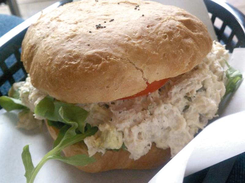 Stella\'s chicken salad sandwich