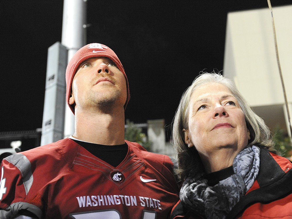 Steve Gleason and his mother Gail - WSU