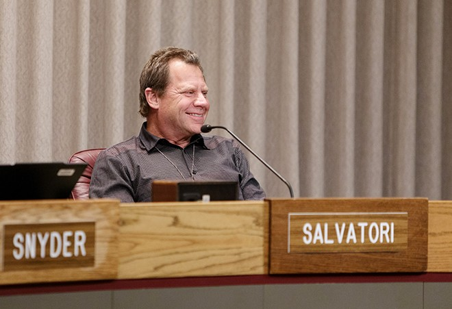 City Councilman Steve Salvatori at a council meeting earlier this year. - YOUNG KWAK