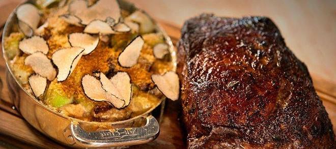 Stowell rib eye and gratin, a Washington Grown recipe.