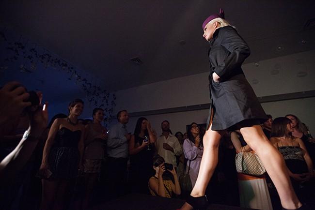 Taelyn Phillipson walks the runway. - YOUNG KWAK