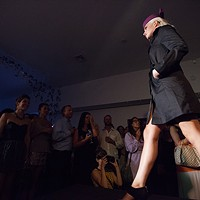 PHOTOS: Olive + Boone Custom Millinery Show Taelyn Phillipson walks the runway. Young Kwak