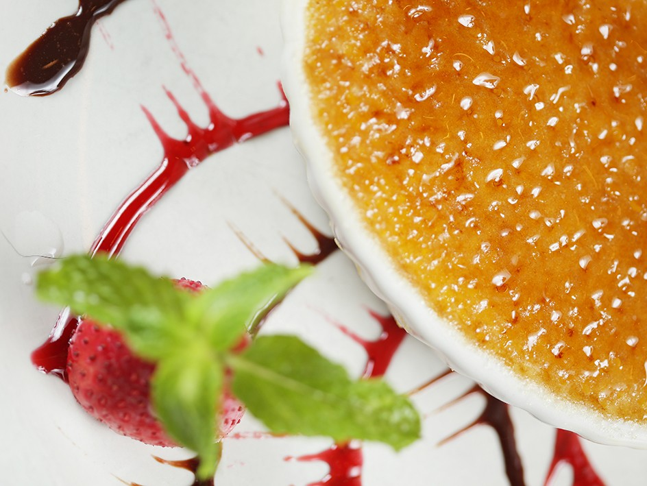 Take a look at the burnt creme brulee from Tomato Street. - YOUNG KWAK