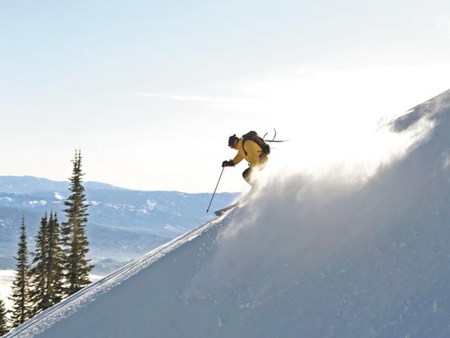 Tamarack's Summit chair takes you 2,800 feet above the base. - SHERRI HARKIN