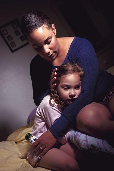Tara Severtson with her daughter Syriana. - STEPHEN SCHLANGE
