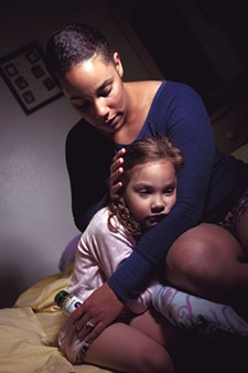 Tara Severtson with her daughter Syriana. - STEPHEN SCHLANGE