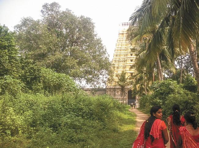 Temple entrance in Kanchipuram. - LISA WAANANEN