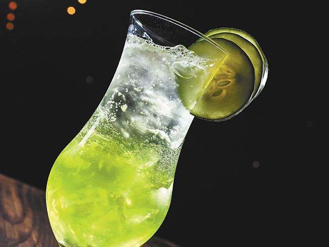 The Afternoon Breeze, one of the District Bar\'s signature cocktails. - STEPHEN SCHLANGE