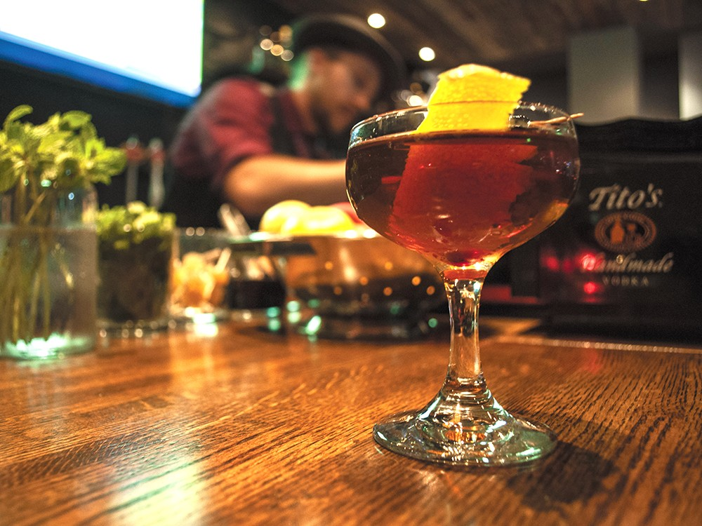 The ambidextrous cocktail is just one of the Volstead Act's lavish cocktails. - SARAH WURTZ