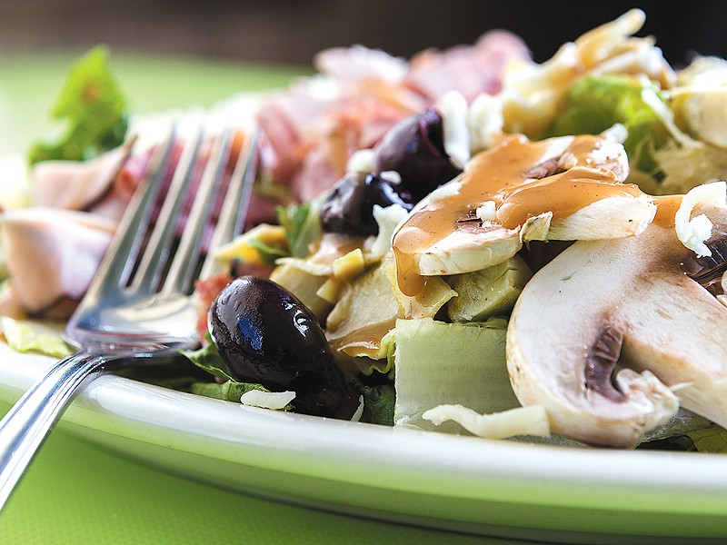The antipasto salad from Four Sal\'s. - STEPHEN SCHLANGE