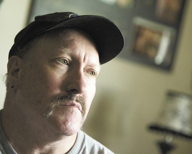 The apartment at Father Bach Haven Home has given Larry Hankins time to put his life back together. - YOUNG KWAK