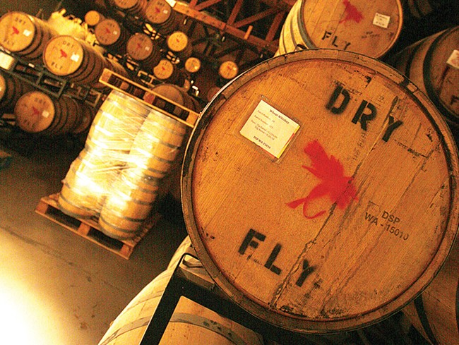 The barrel room at Dry Fly Distilling - YOUNG KWAK