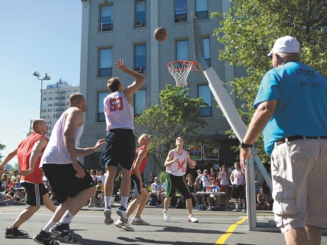 The basketball at Hoopfest is just part of the fun. - BEN TOBIN