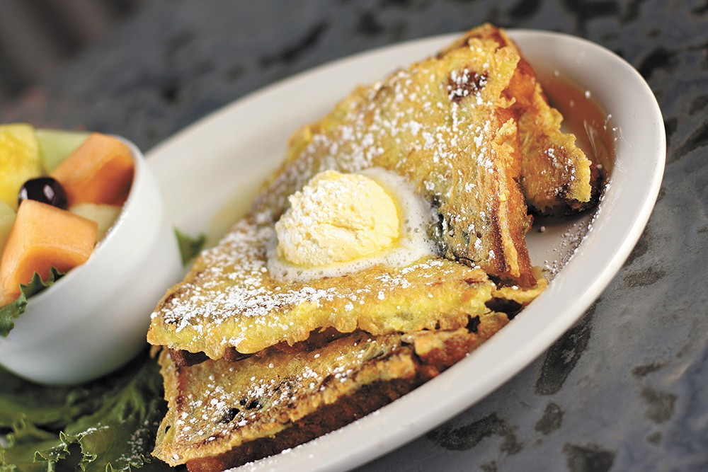 The Bluberry French toast from Morty's. - YOUNG KWAK