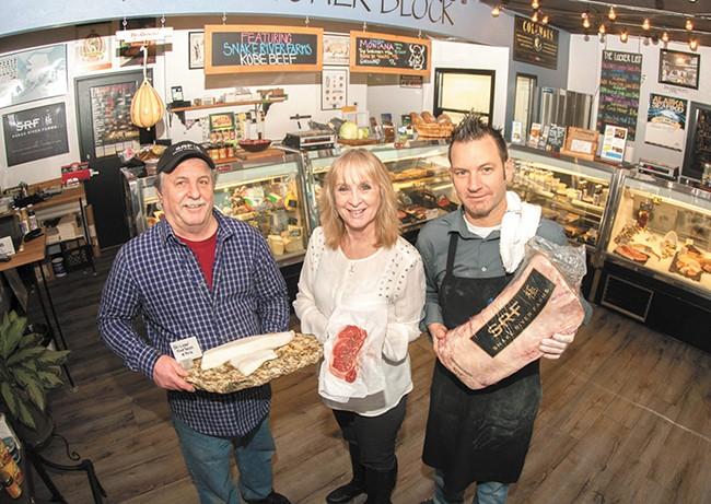 The Butcher Block owners (from left) Eddy Rogers, Rhonda Entner and Patrick Fechser. - MEGHAN KIRK
