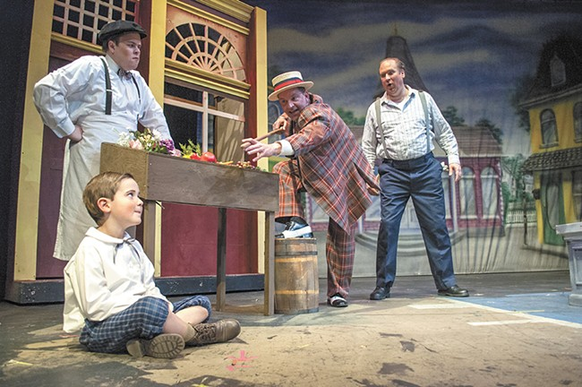 The cast of The Music Man includes (left to right) Josh Watkins, Kaiden Fletcher, Mark Pleasant and Charles Fletcher. - SARAH WURTZ