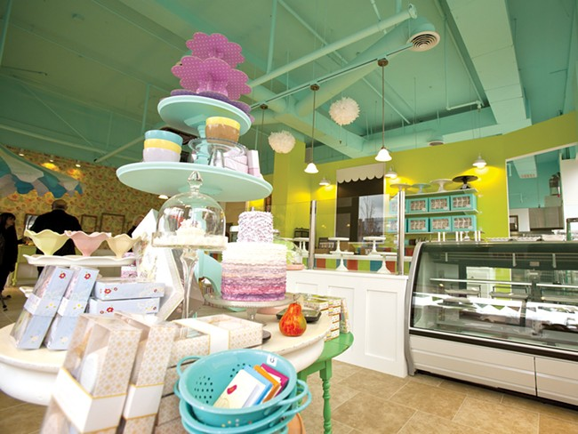 The cheery, colorful scene at Sweet Frostings. - MIKE MCCALL