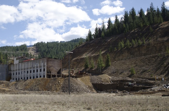 The closed Bunker Hill Mine sits near the treatment plant in Kellogg. - JACOB JONES