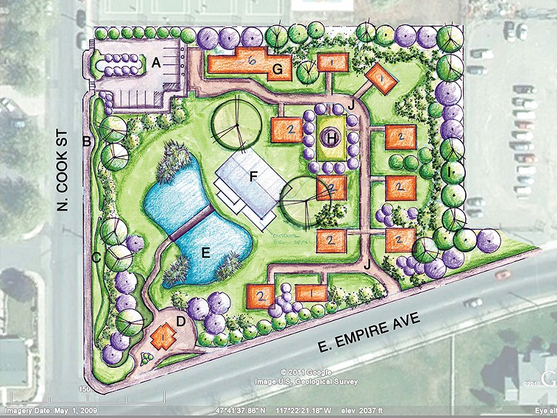 The conceptual design for the Hillyard Village Project