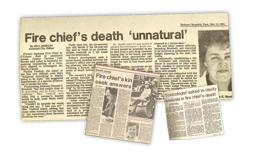 "The coronor's inquest into the death of Al O'Connor was the cause of intense media coverage at the time from local newspapers. The inquest, which began in December of 1981, nine months after O'Connor's death, was called a ""circus"" and a ""travesty"" by some critics."