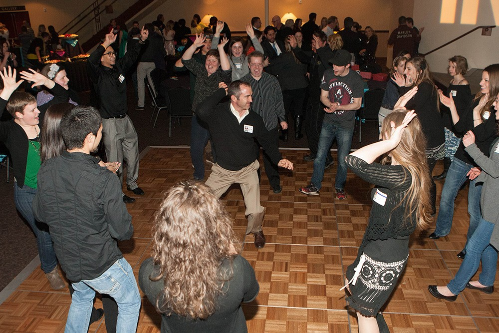 The dance party heats up. - MEGHAN KIRK