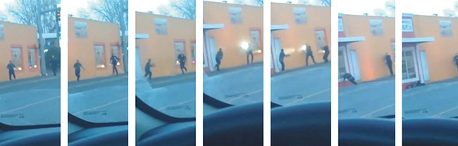 The final moments of Antonio Zambrano-Montes' life, captured on video.