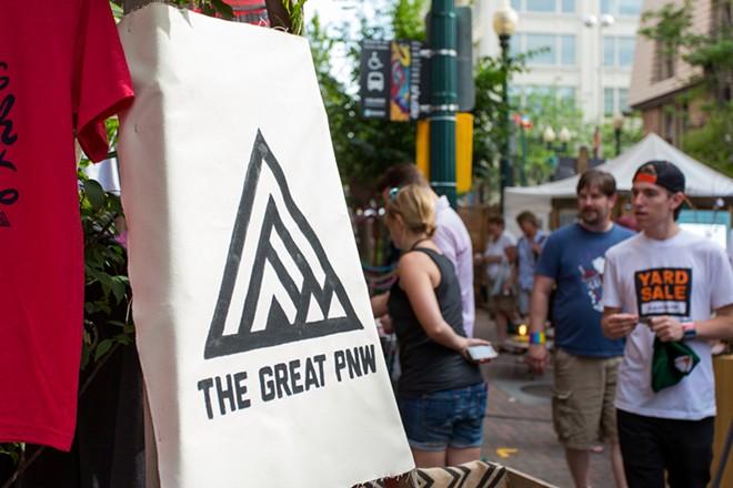 The Great PNW was one of over 40 booths at Terrain's Bazaar. - MATT WEIGAND