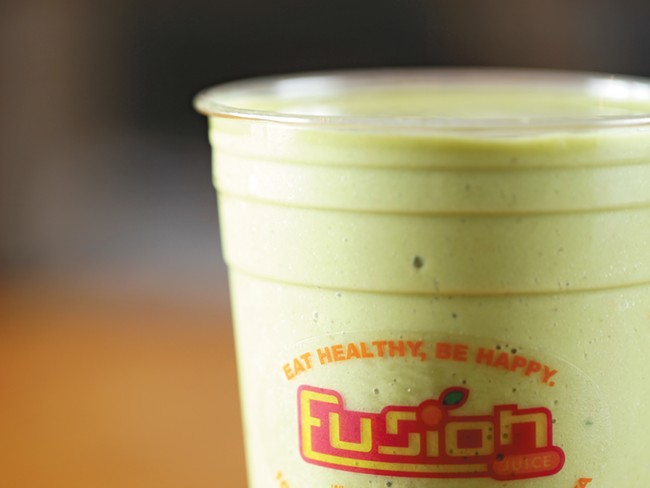 The Green Machine smoothie from Fusion Juice. - YOUNG KWAK
