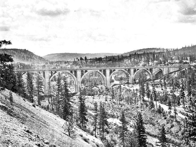 The Hangman Creek Bridge, on the western edge of Spokane. - SPOKANE PUBLIC LIBRARY / NORTHWEST ROOM