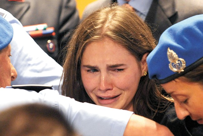 The Idaho Innocence Project analyzed DNA for Amanda Knox's attorneys. - TIZIANA FABI/AFP/GETTY IMAGES