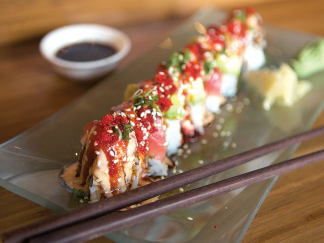 The Las Vegas roll at Ginger - BEN TOBIN