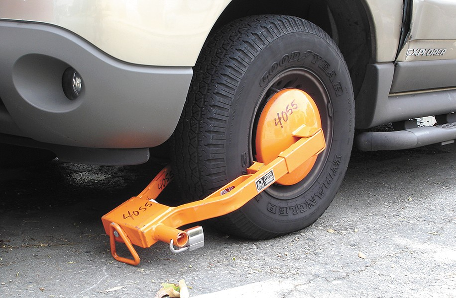The latest step in the city's parking overhaul: a booting program