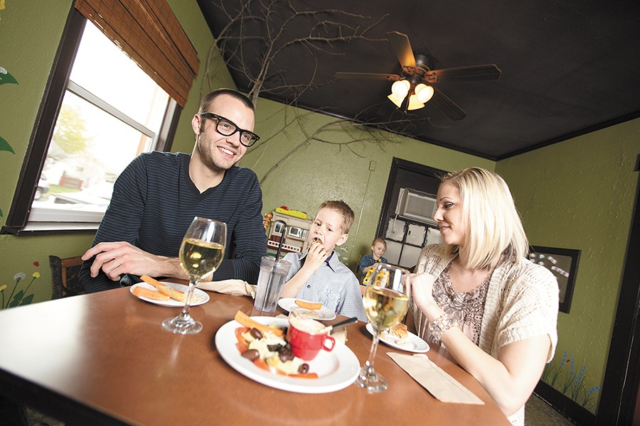 The Little Garden Cafe is known for its kid-friendly happy hour. - YOUNG KWAK