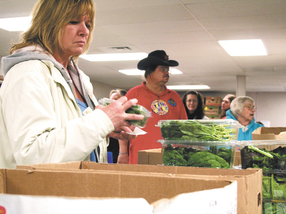 The Medical Lake food bank serves about 220 families a month, twice as many as three years ago. - CHRIS BOVEY